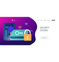 Security access card concept vector