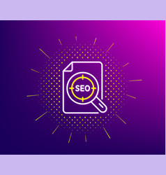 Seo target line icon search engine optimization vector