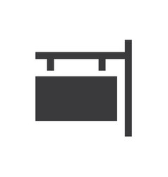 signboard icon vector image