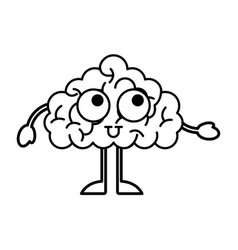 Storm brain character icon vector