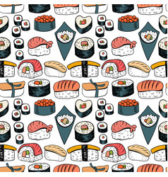sushi seamless background vector image