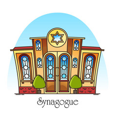 synagogue building or jewish temple synagog vector image