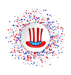 uncle sam hat for the 4th of july with circle vector image