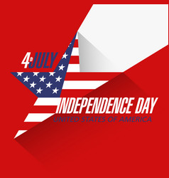Usa independence day banner or poster design vector