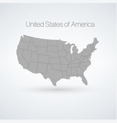 usa map with states america cartography stock vector image