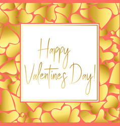Valentines day gold greeting card for instagram vector