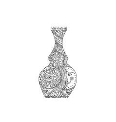 Vase tangle pattern vector