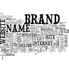 what can a brand name do for you text word cloud vector image