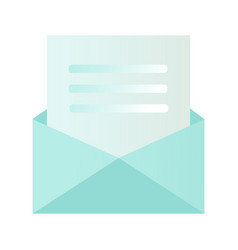 You re invited written inside an envelope letter vector