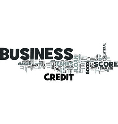 z business credit score text word cloud concept vector image