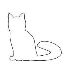Cat the black color icon vector