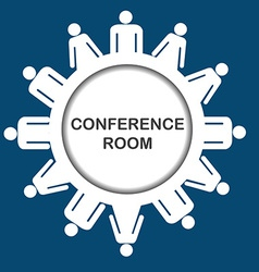 Conference room icon vector image vector image