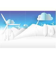 eco environment nature white and blue skypaper vector image