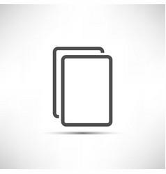 Empty Copy Icon vector image vector image