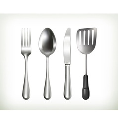 Flatware objects vector image vector image