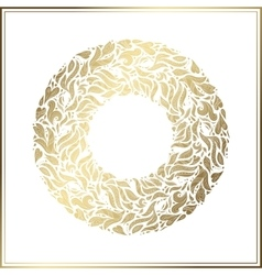 Gold round frame floral decoration made vector image vector image