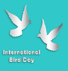 international bird day dove vector image vector image