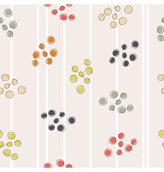 Abstract seamless pattern with colored circles vector image vector image