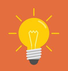 light bulp vector image