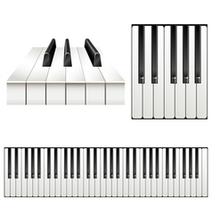 Piano key set vector image vector image