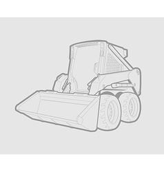 skid loader vector image