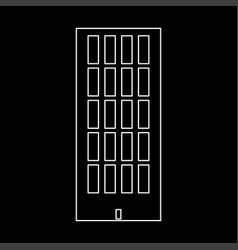 Sky tower building white color path icon vector