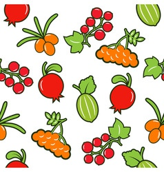 berry seamless background vector image