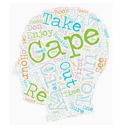 Cape Town In Hours text background wordcloud vector image vector image