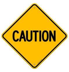 Caution Yellow Sign vector image vector image