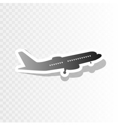 flying plane sign side view new year vector image vector image