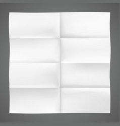 folded piece of paper vector image