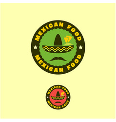 mexican traditional food logo or emblem vector image vector image