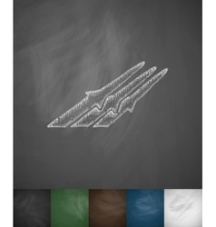 missiles icon Hand drawn vector image
