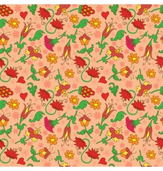 seamless background with floral decorative vector image vector image