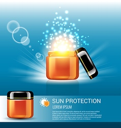 Sun protection for skin care with miracle light vector image vector image
