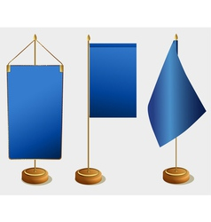 Table flags vector image vector image