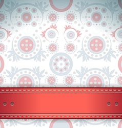Elegant floral background invitation vector image