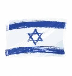 grunge Israel flag vector image vector image