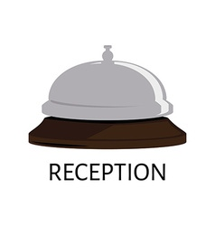 Hotel bell icon vector image