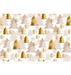 luxury light xmas tree seamless pattern vector image vector image