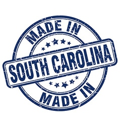 made in South Carolina vector image