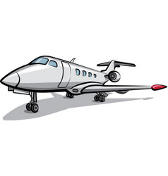 private jet airplane vector image vector image