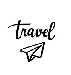 travel paper plane icon vector image vector image