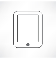 White ipad vector image vector image