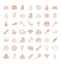 49 celebrate icons vector image