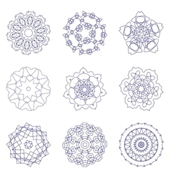 A set of radial pattern vector image