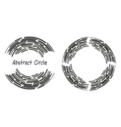 abstract background logo circles lines vector image