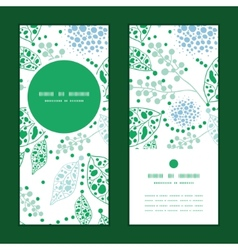 abstract blue and green leaves vertical vector image