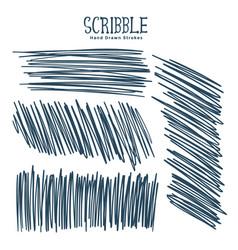 abstract pen scribbles sketch set vector image