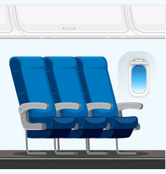 An airplane seat layout vector